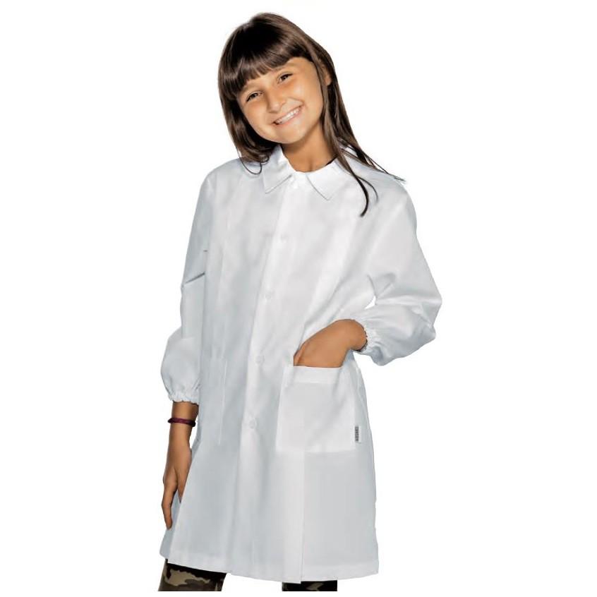 blouse enfant blanche isacco unisexe. Black Bedroom Furniture Sets. Home Design Ideas