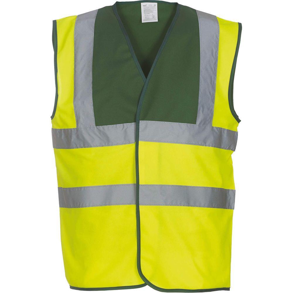 Gilet haute visibilité YOKO vert jaune