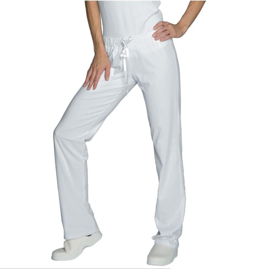 pantalon de travail m dical femme blanc isacco pantajersey. Black Bedroom Furniture Sets. Home Design Ideas