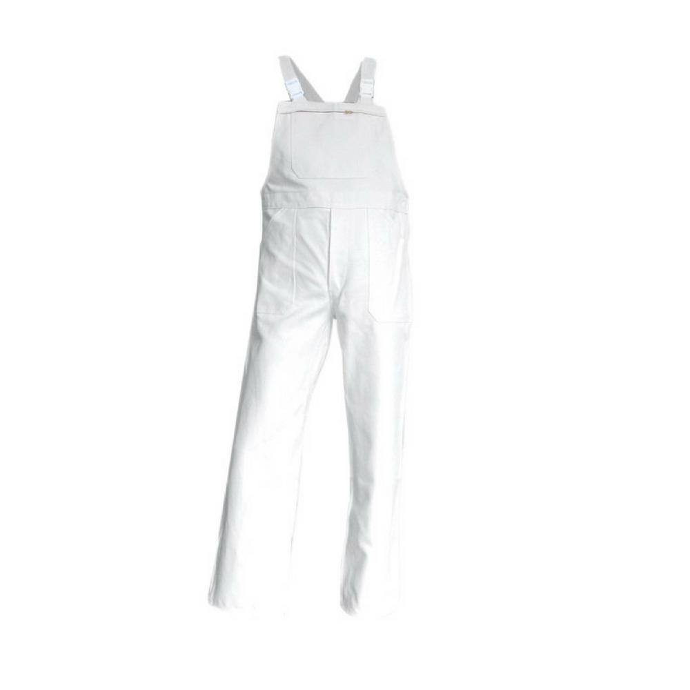salopette de travail peintre 100 coton blanc brosse. Black Bedroom Furniture Sets. Home Design Ideas