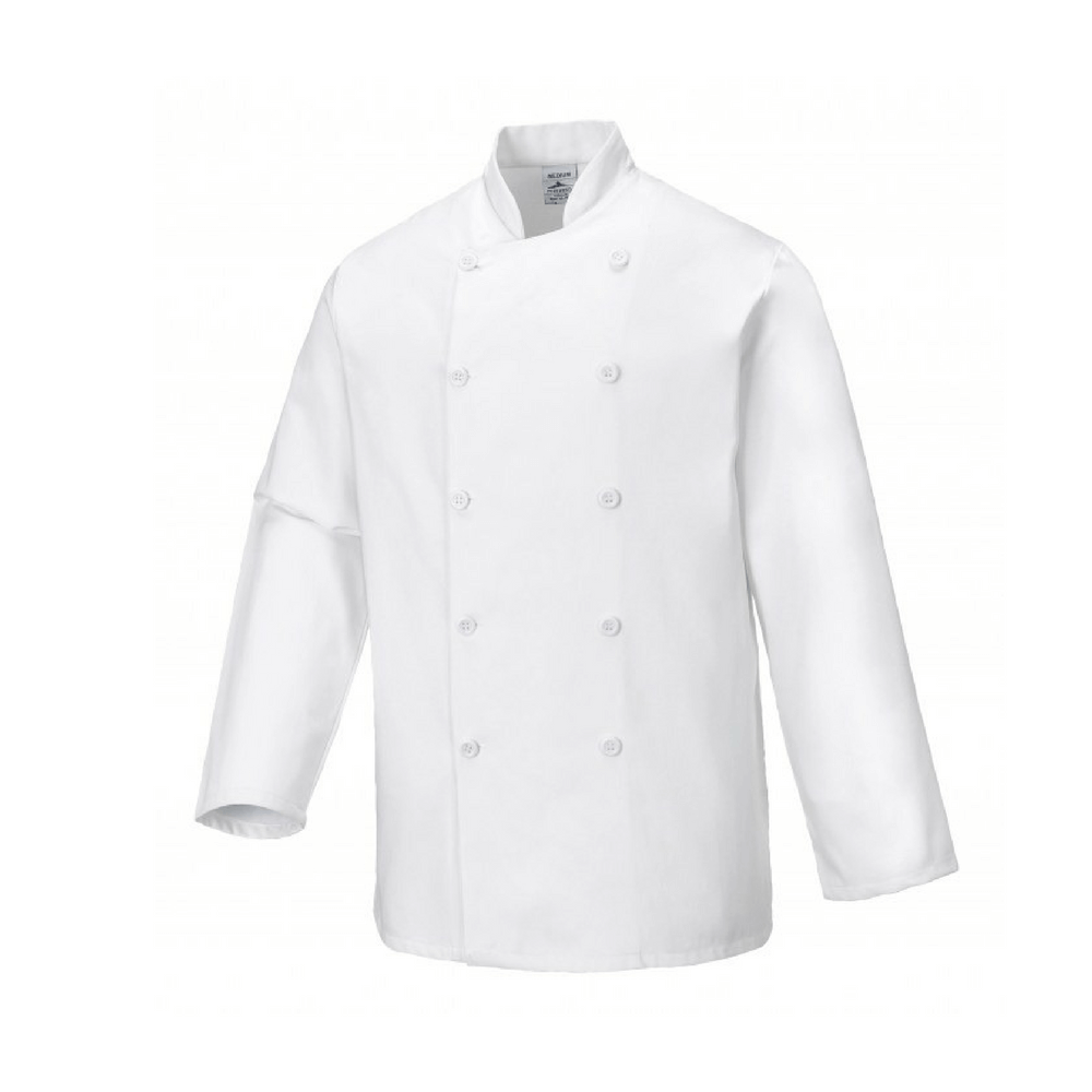 Veste de cuisine sussex portwest for Veste de cuisine brodee