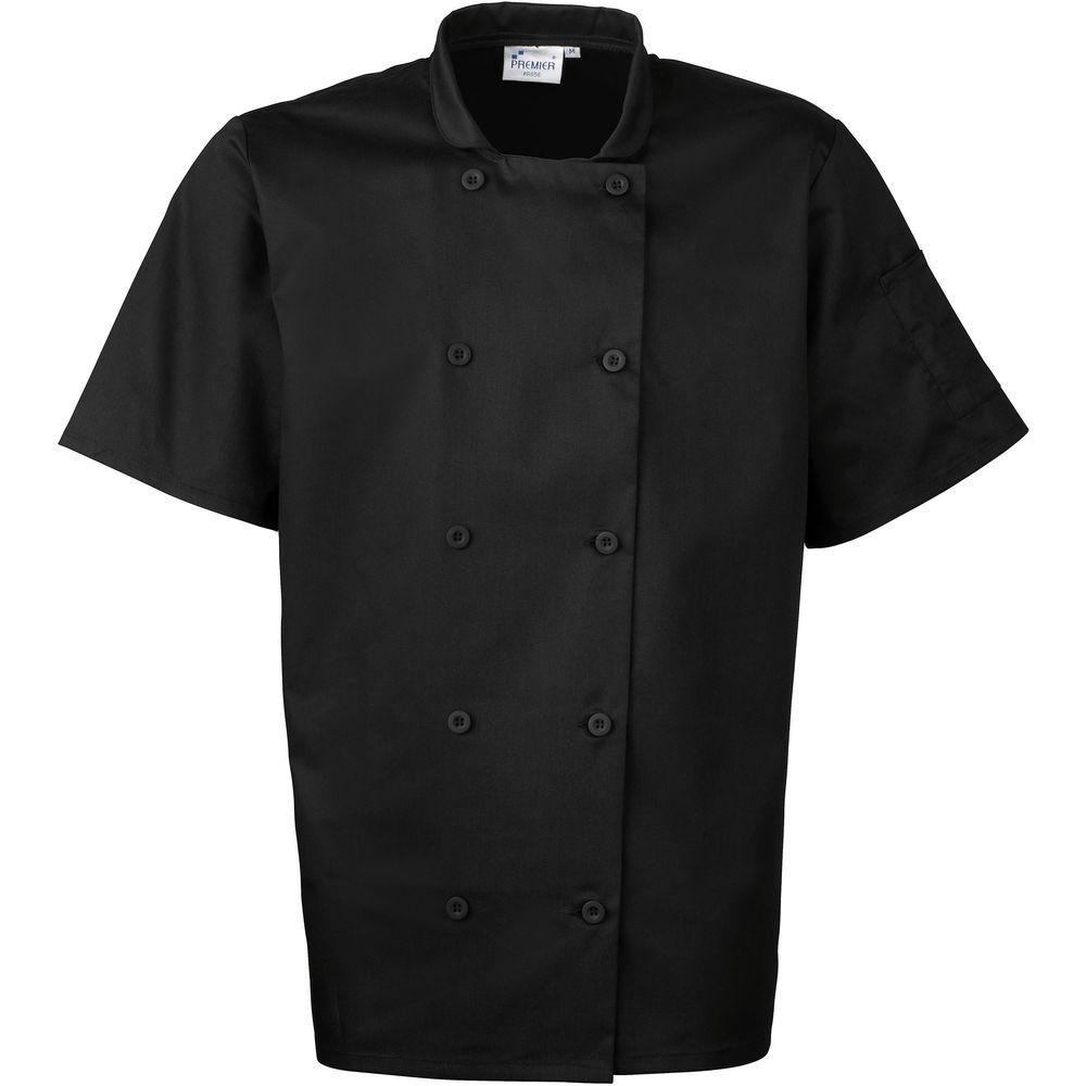 Veste mixte de cuisine manches courte for Veste de cuisine manche courte