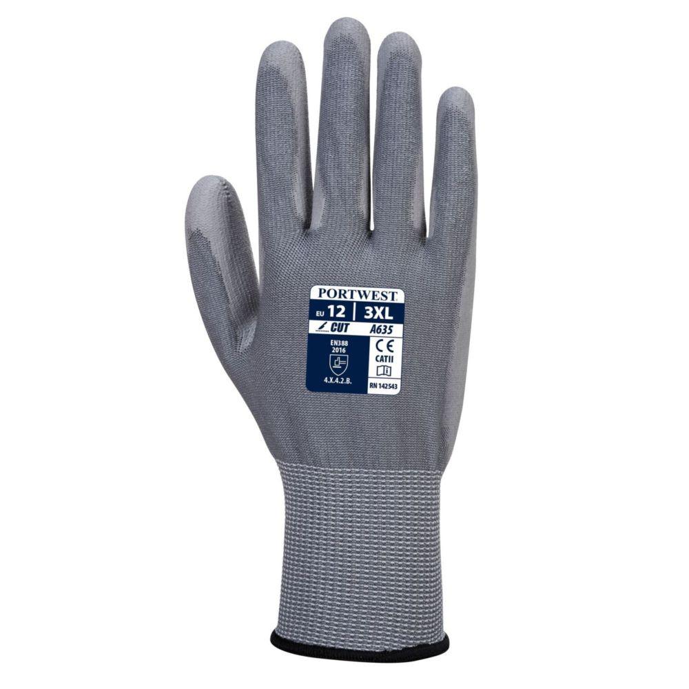 Gants anti-coupure Niveau 3 Portwest ECO-CUT GLOVE - Gants anti-coupure Portwest ECO-CUT GLOVE gris 1
