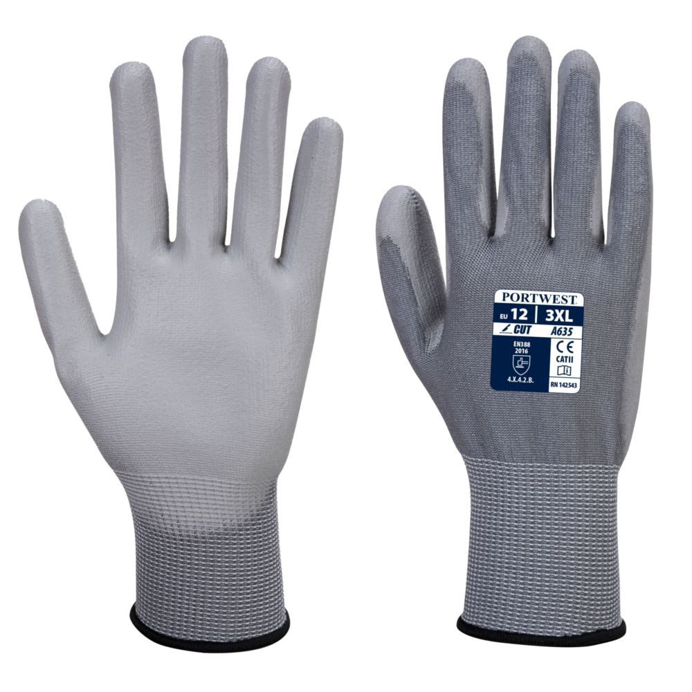 Gants anti-coupure Niveau 3 Portwest ECO-CUT GLOVE - Gris