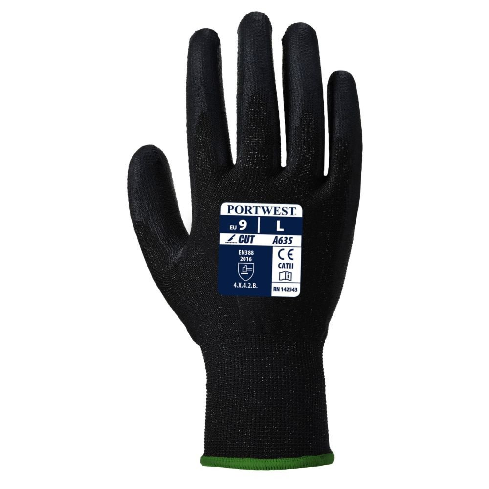 Gants anti-coupure Niveau 3 Portwest ECO-CUT GLOVE - Gants anti-coupure Portwest ECO-CUT GLOVE noir 1