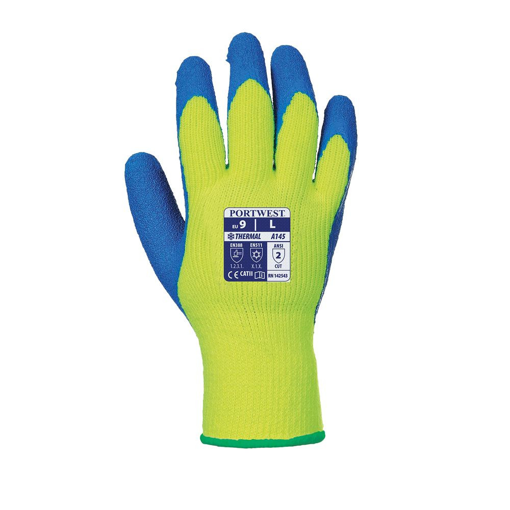 Gants Cold Grip Portwest - Jaune / Bleu