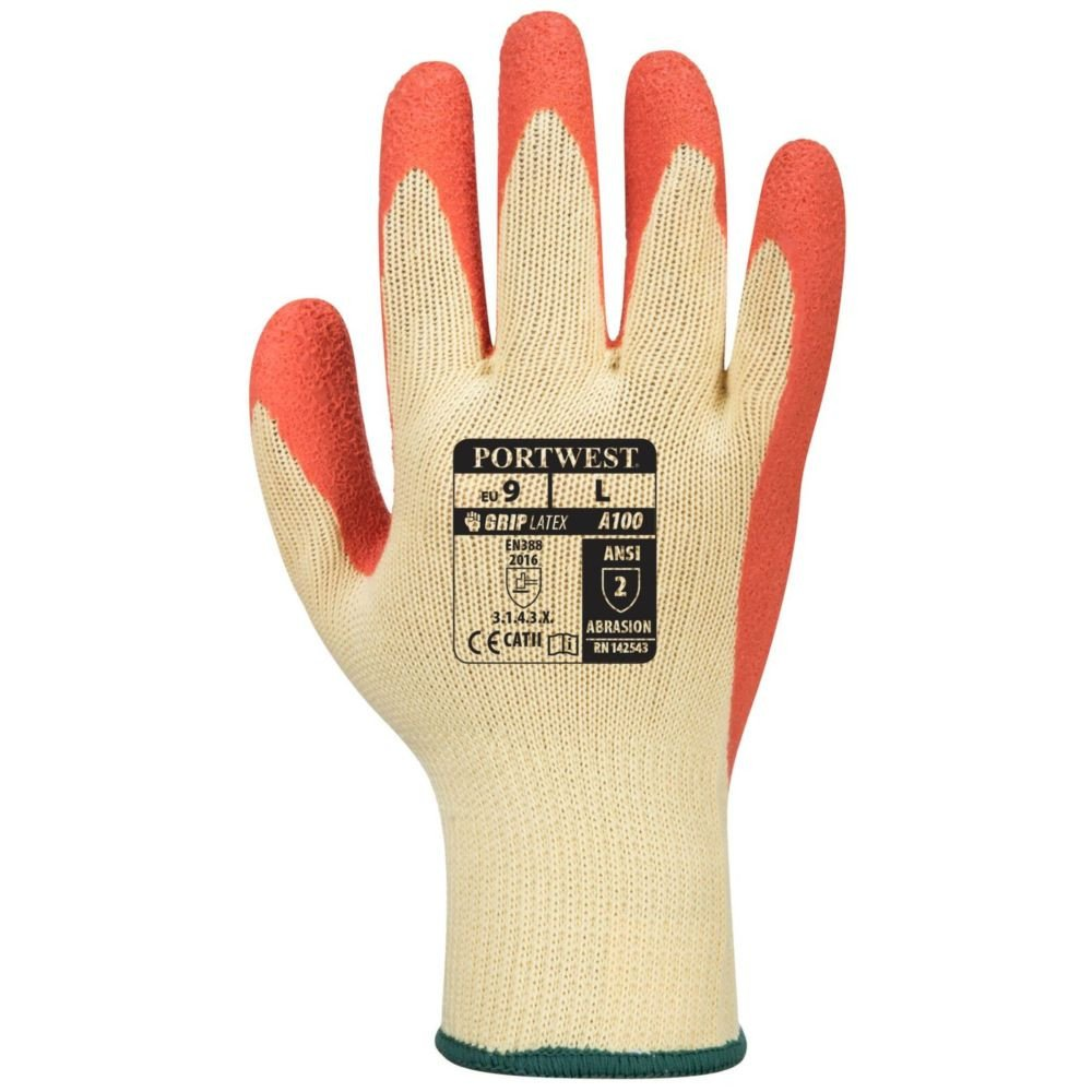 Gants de manutention Portwest ENDUIT LATEX Jaune / Orange 1