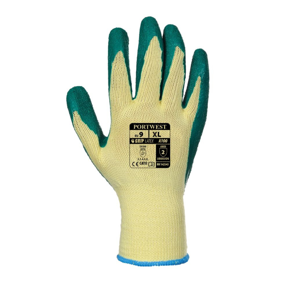 Gants de manutention Portwest ENDUIT LATEX Jaune / Vert 1