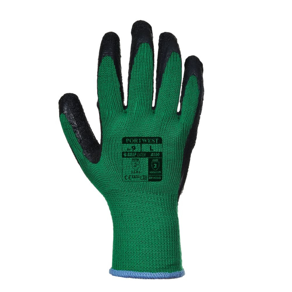 Gants de manutention Portwest ENDUIT LATEX - Vert / Noir