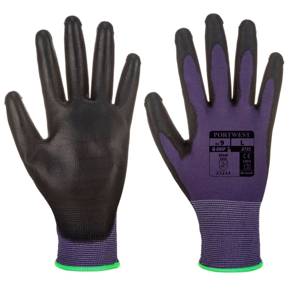 Gants de manutention PU Tactile Portwest - Violet