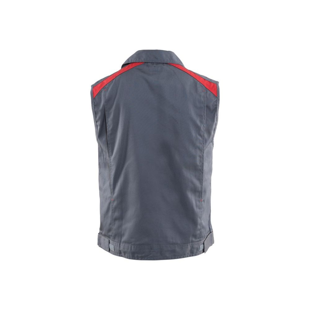 Gilet sans manches bicolore Blaklader Industrie Gris / Rouge dos