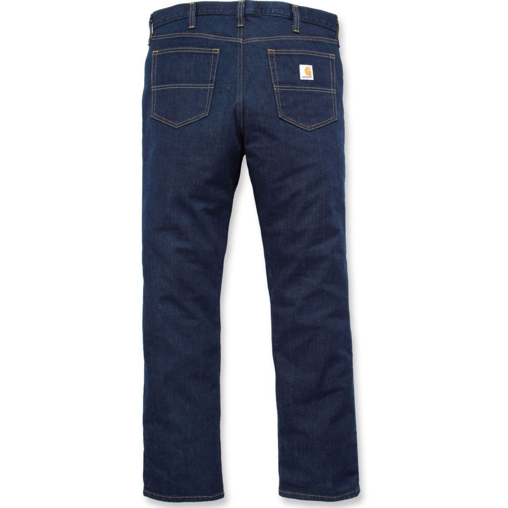 Jeans de travail stretch Carhartt RUGGED FLEX STRAIGHT - Jeans de travail Carhartt CAR102807 bleu denim dos