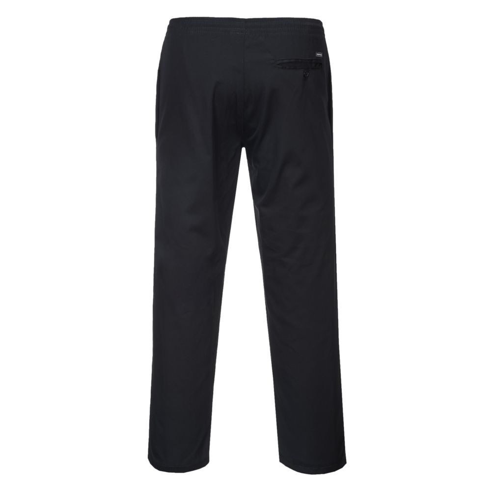 Pantalon de cuisine Portwest  DRAWSTING - Pantalon de cuisine Portwest  Drawstings Noir dos