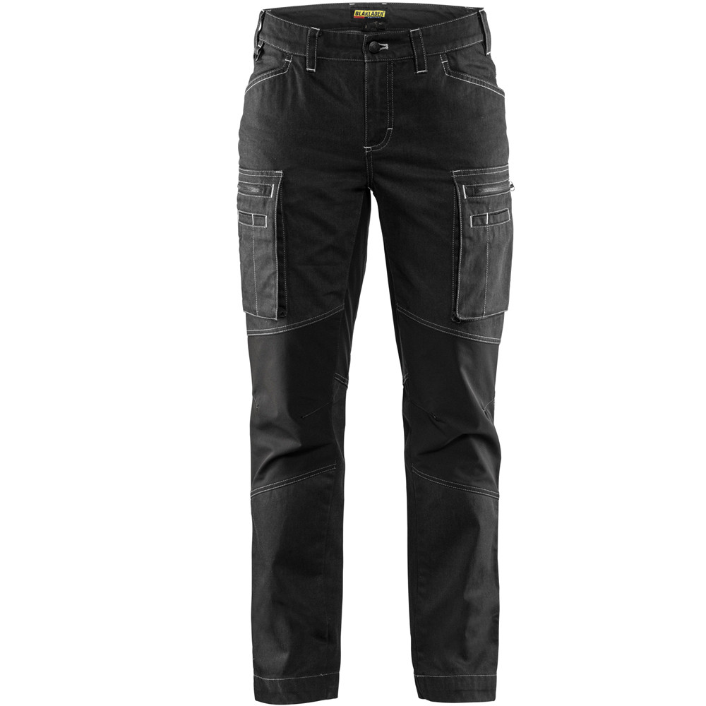 Pantalon de services femme stretch Blaklader Cordura Denim - Noir