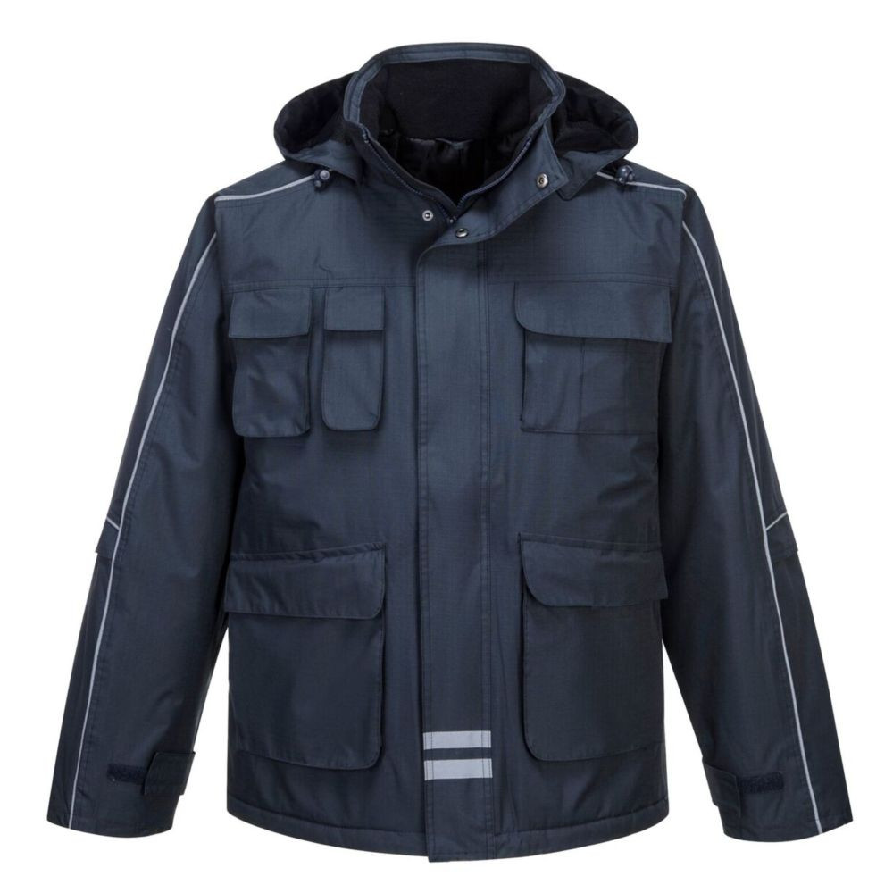 Parka imperméable multipoches Portwest Rip Stop - Marine