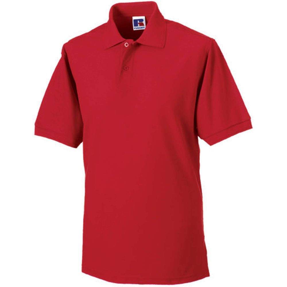 Polo de travail polycoton Russell - Rouge