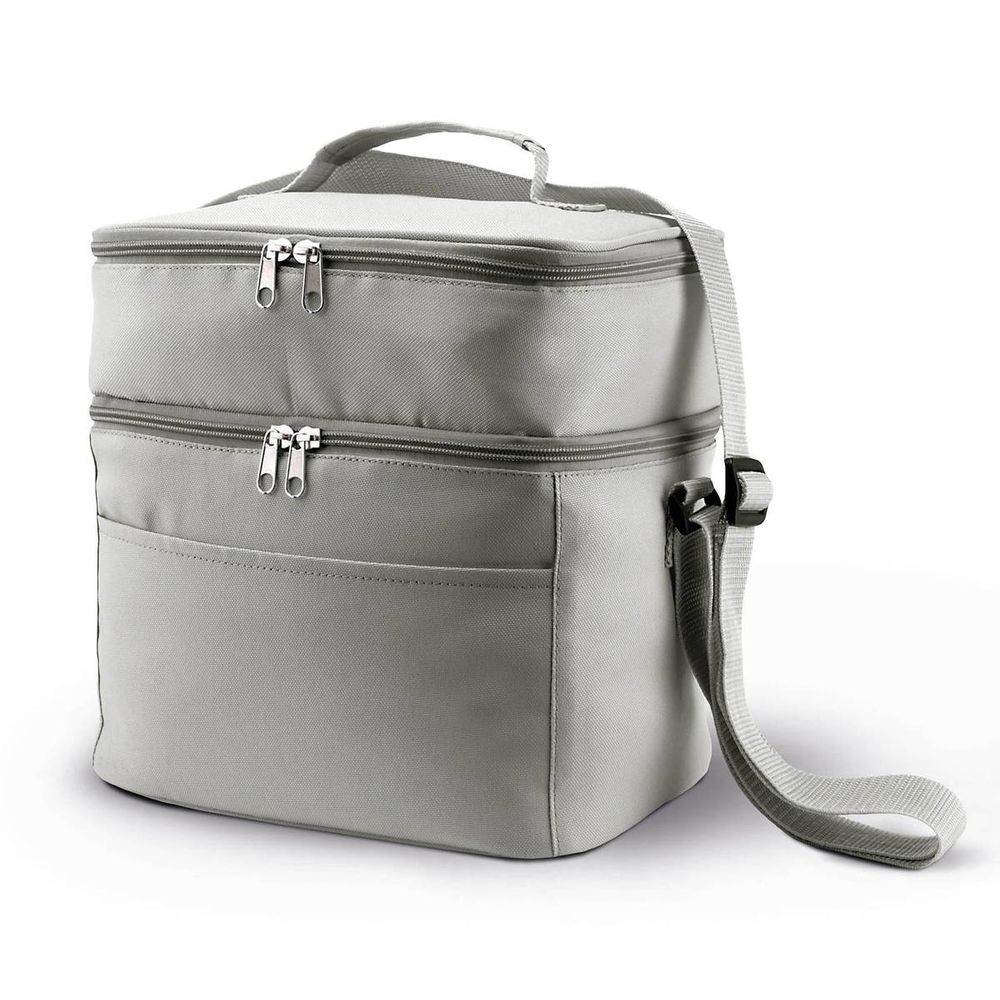 Sac isotherme double compartiment KIMOOD Gris Clair 1