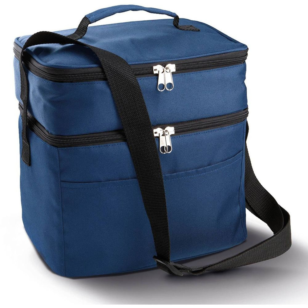 Sac isotherme double compartiment KIMOOD - Bleu Marine