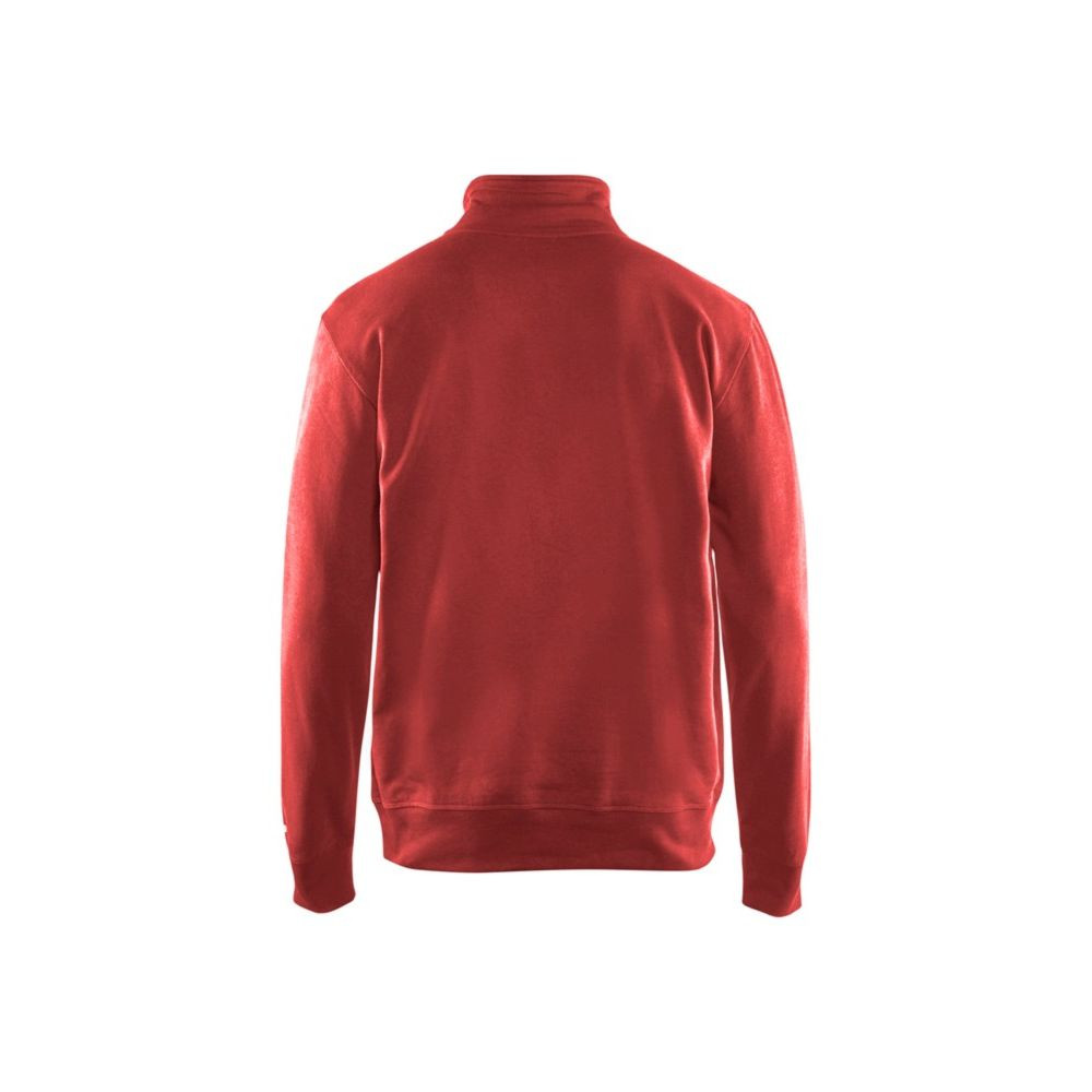 Sweat col camionneur Blaklader 100% coton Rouge Dos