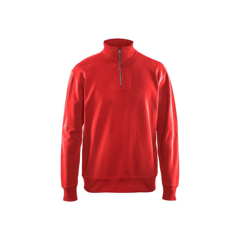 Sweat col camionneur Blaklader 100% coton - Rouge
