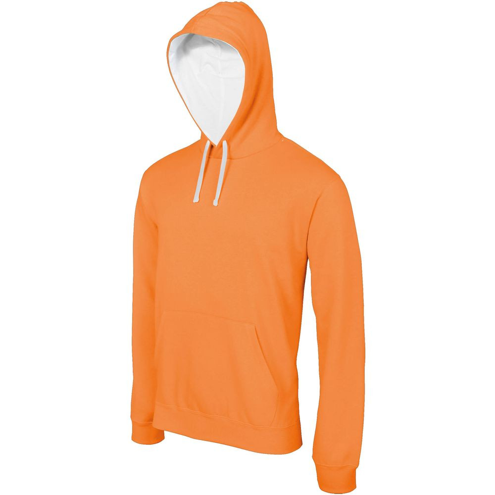 Sweat-shirt à capuche contrastée Kariban homme - Sweat-shirt à capuche contrastée homme Kariban Orange blanc