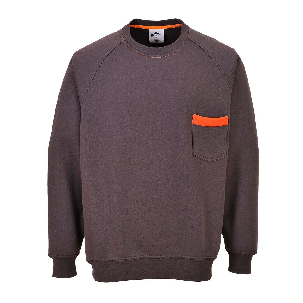 Sweat Shirt col rond Portwest Sweater Texo - Gris