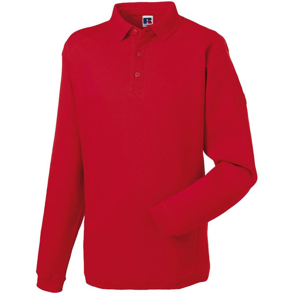 Sweat-shirt de travail col polo Russell - Rouge