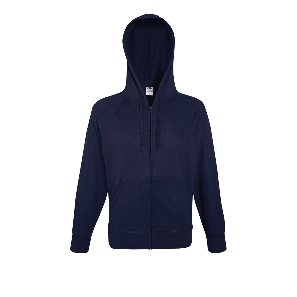 Sweat-shirt léger à capuche zippé Fruit Of The Loom Lightweight Hooded marine