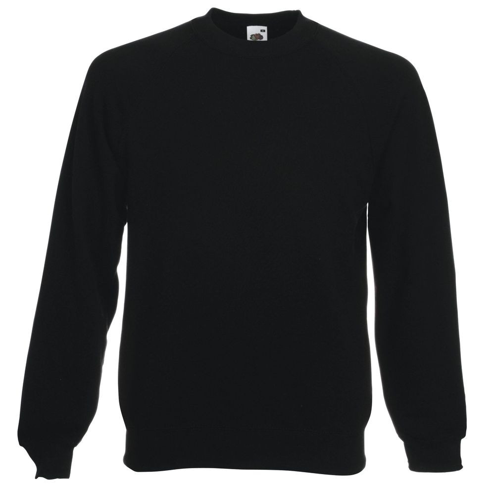 Sweat-shirt manches raglan Fruit Of The Loom Classic noir