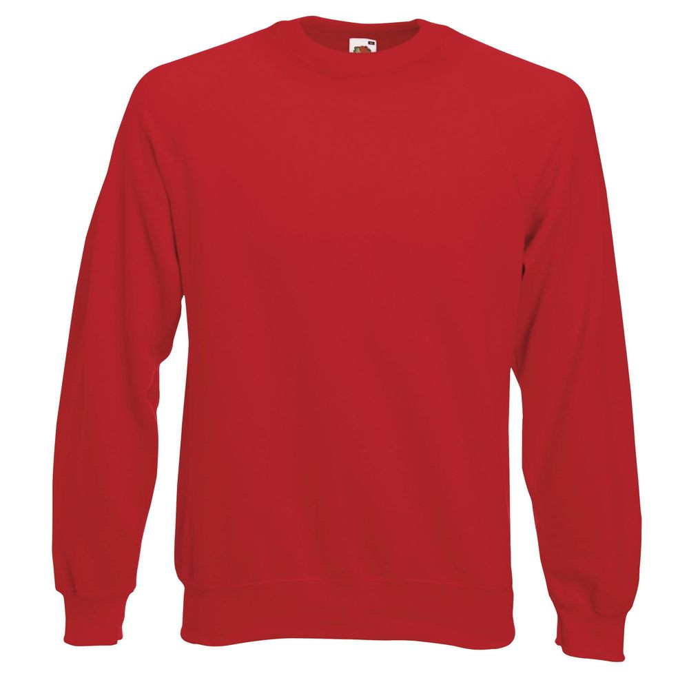 Sweat-shirt manches raglan Fruit Of The Loom Classic rouge