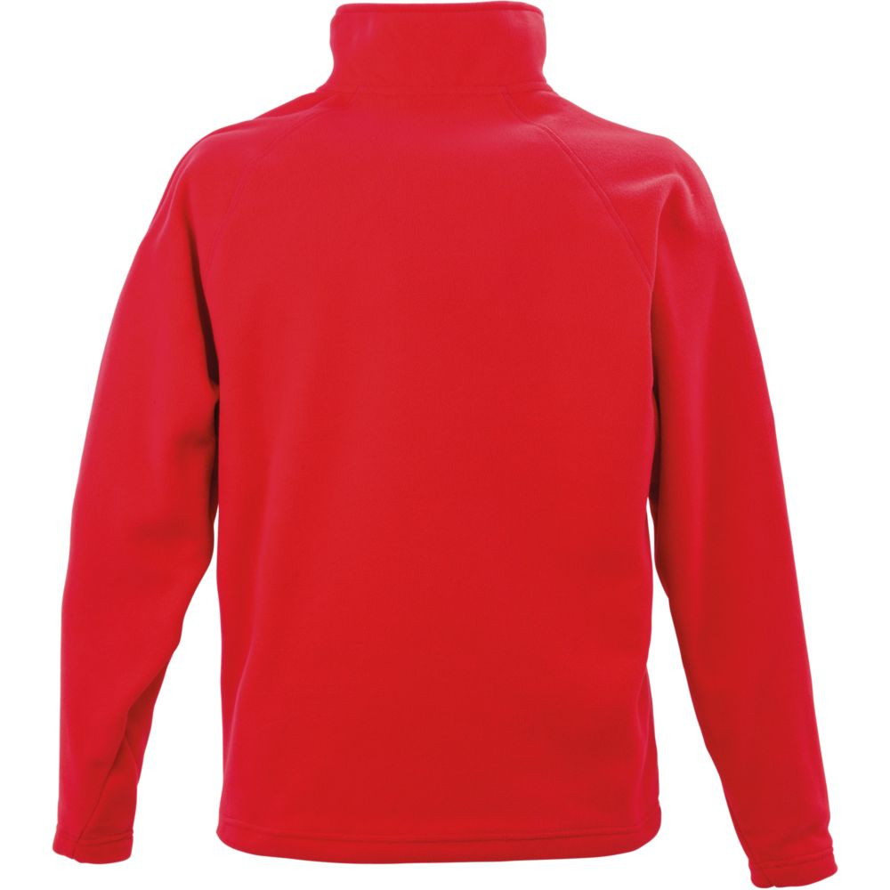 Sweat-shirt micropolaire Result col zippé - Sweat-shirt micropolaire Result R112X Rouge Dos