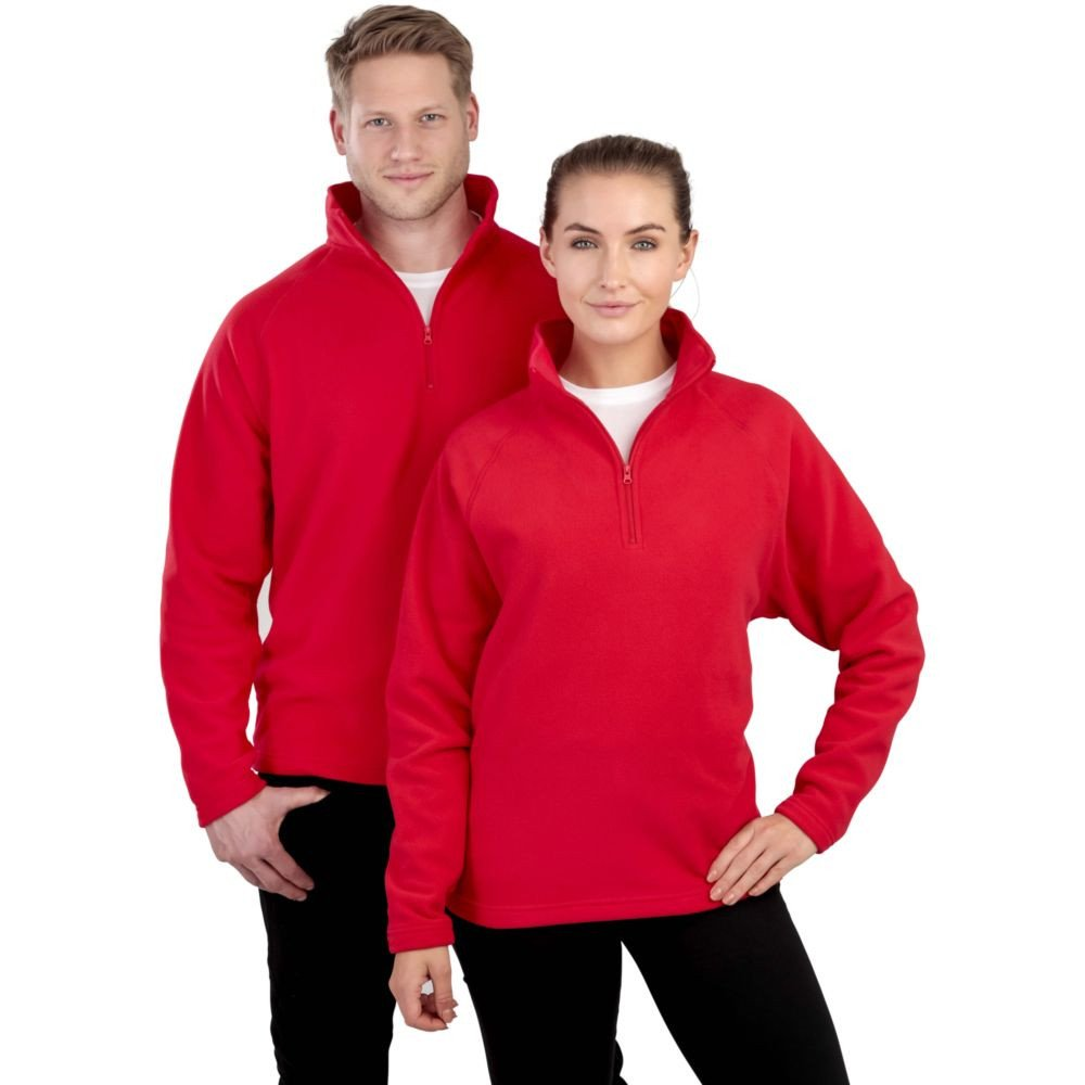 Sweat-shirt micropolaire Result col zippé - Sweat-shirt micropolaire Result R112X Rouge porté