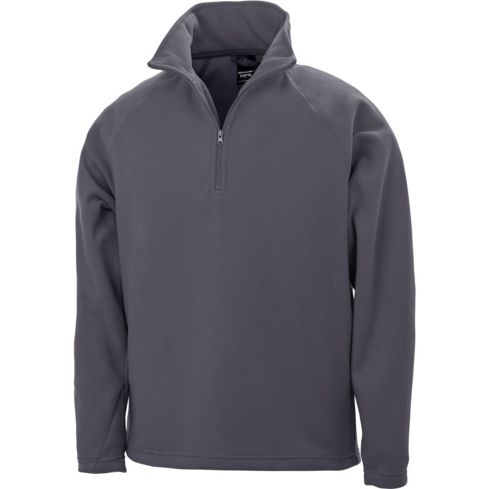 Sweat-shirt micropolaire Result col zippé - Gris