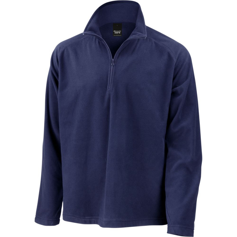 Sweat-shirt micropolaire Result col zippé - Marine