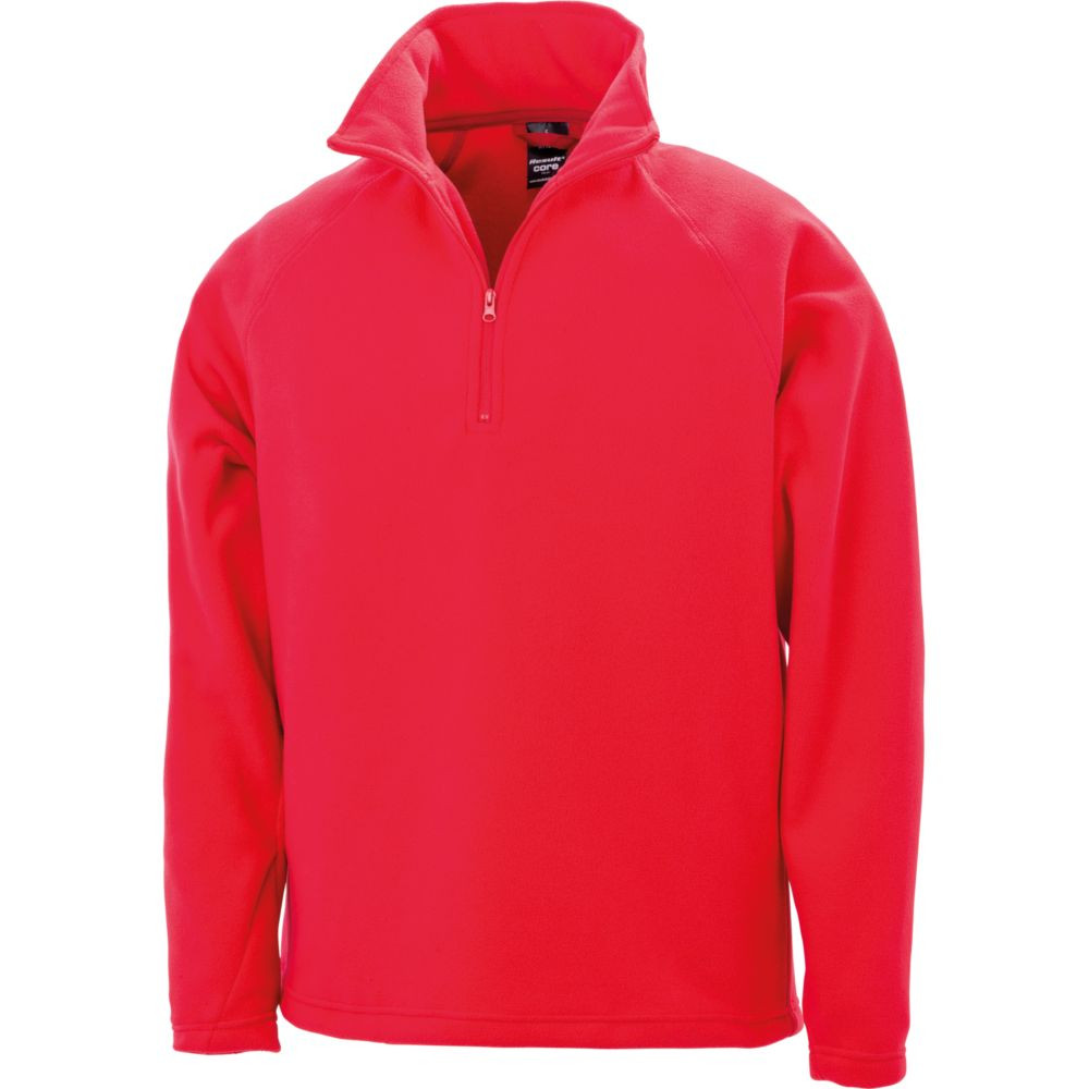 Sweat-shirt micropolaire Result col zippé - Rouge