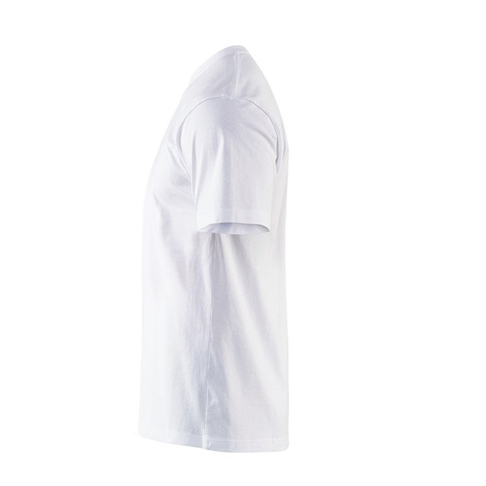 T-shirt Blaklader col rond Homme 100% coton - T-shirt Blaklader Col rond Homme 100% coton blanc côté 2