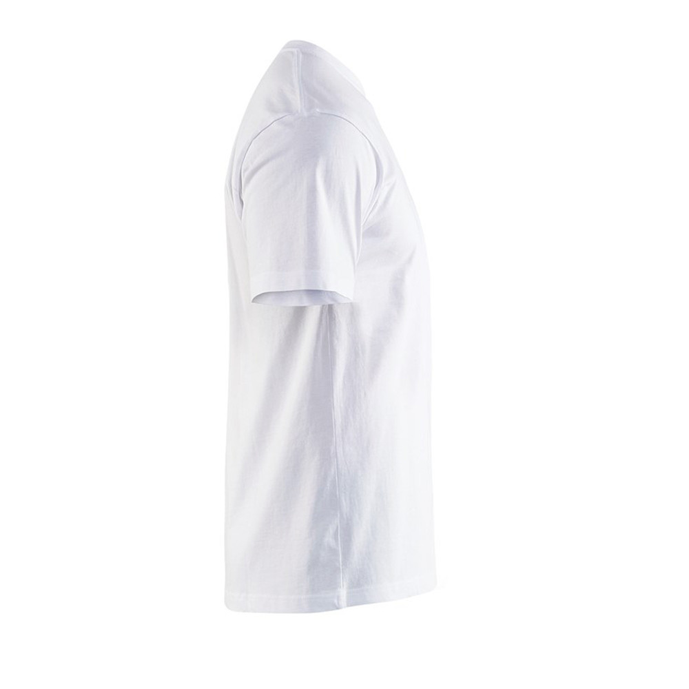 T-shirt Blaklader col rond Homme 100% coton - T-shirt Blaklader Col rond Homme 100% coton blanc côté