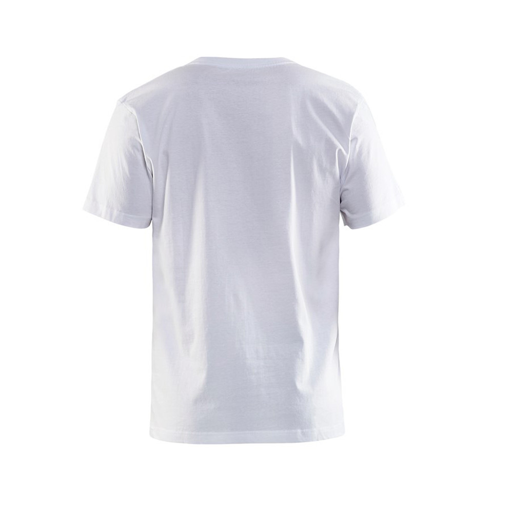 T-shirt Blaklader col rond Homme 100% coton - T-shirt Blaklader Col rond Homme 100% coton blanc dos