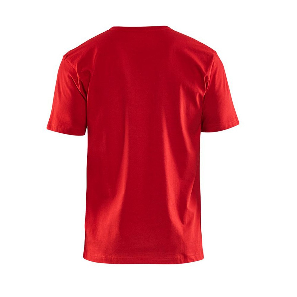 T-shirt Blaklader col rond Homme 100% coton - T-shirt Blaklader Col rond Homme 100% coton rouge dos