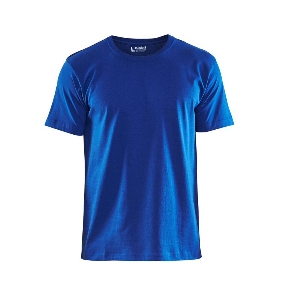 T-shirt Blaklader col rond Homme 100% coton - Bleu roi