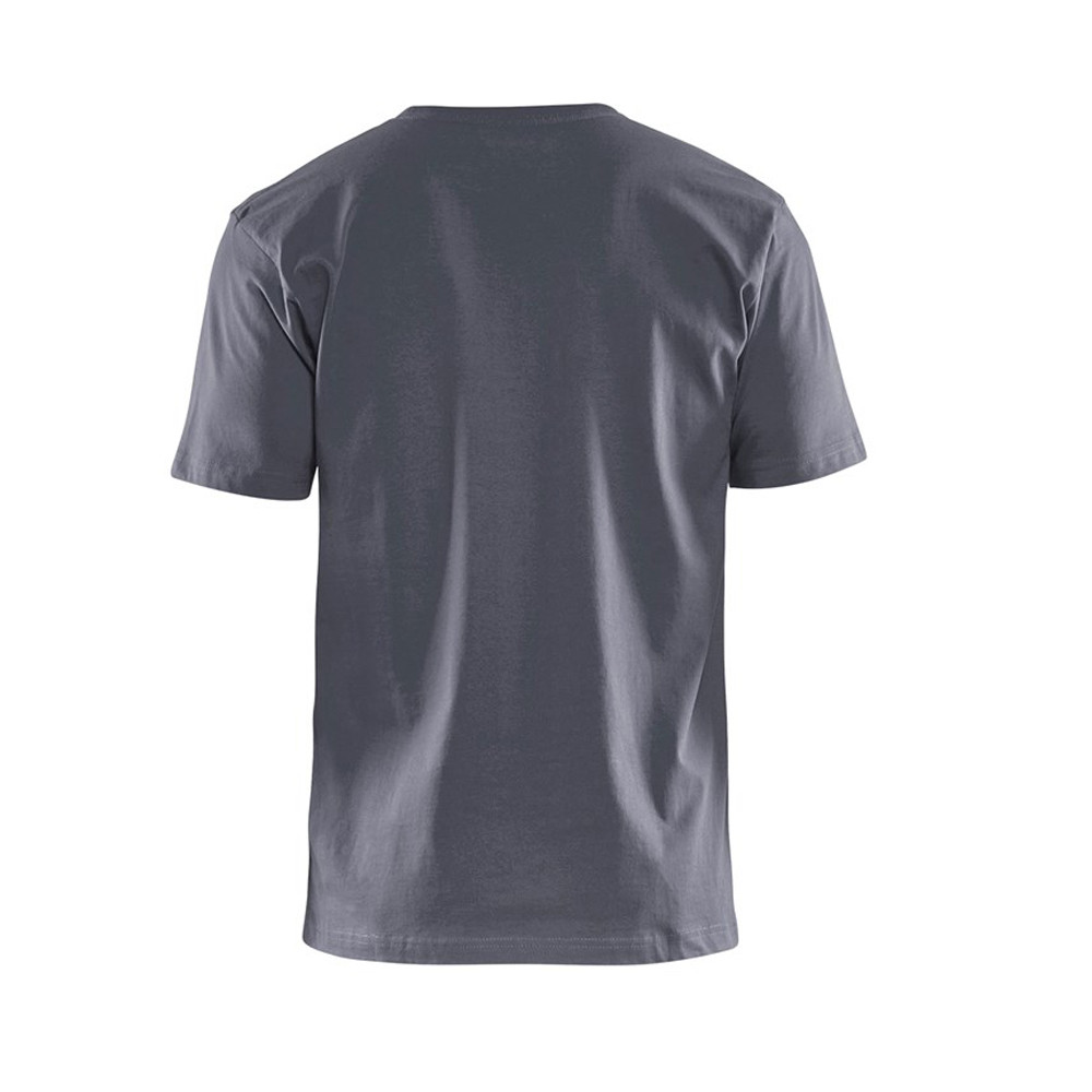 T-shirt Blaklader col rond Homme 100% coton - T-shirt Blaklader Col rond Homme 100% coton gris dos