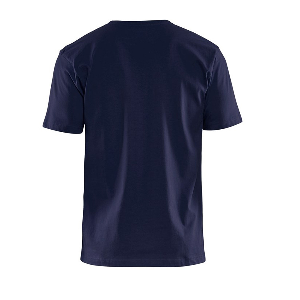 T-shirt Blaklader col rond Homme 100% coton - T-shirt Blaklader Col rond Homme 100% coton marine dos