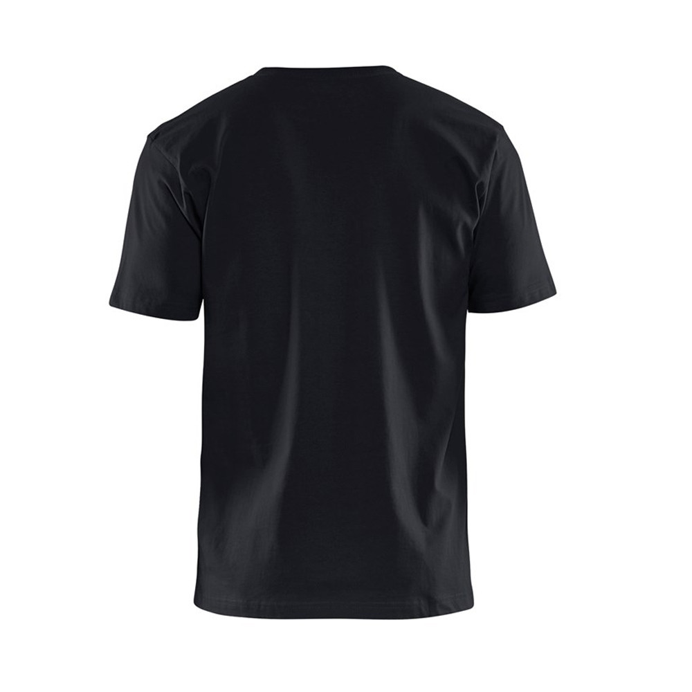 T-shirt Blaklader col rond Homme 100% coton - T-shirt Blaklader Col rond Homme 100% coton noir  dos