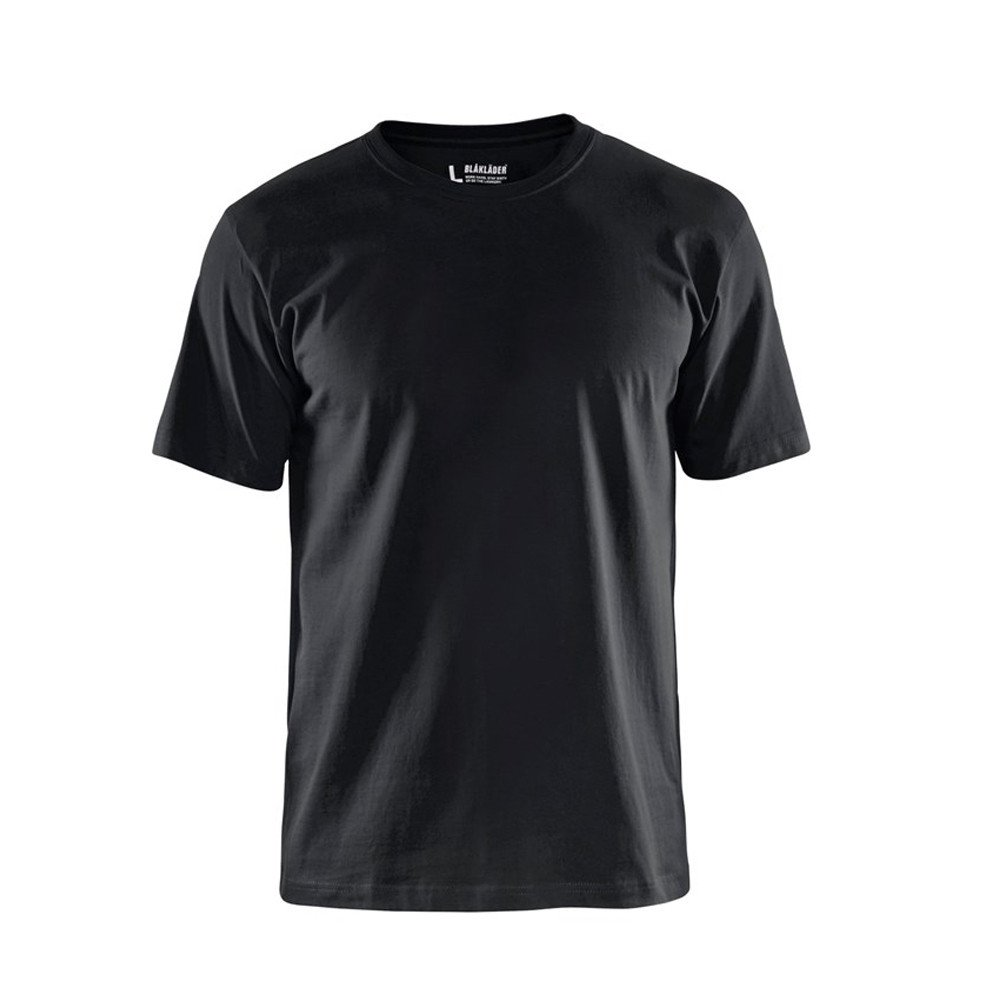 T-shirt Blaklader col rond Homme 100% coton - Noir