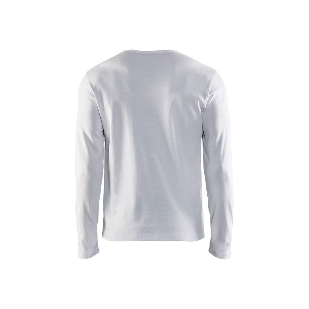 T-shirt manches longues Blaklader col rond 100% coton Blanc Dos