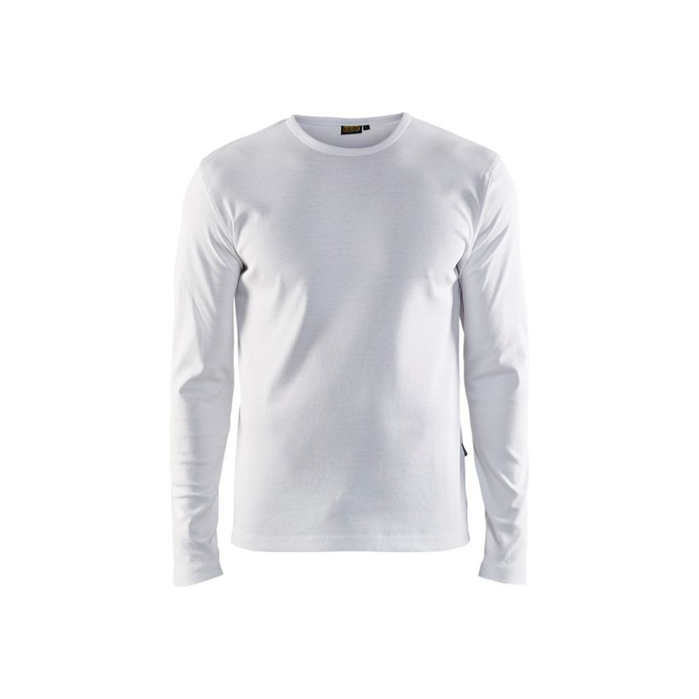 T-shirt manches longues Blaklader col rond 100% coton - Blanc