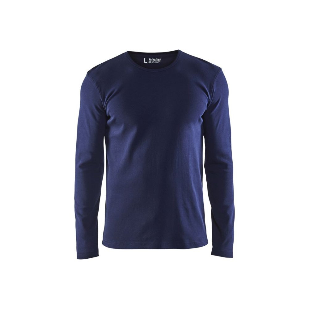 T-shirt manches longues Blaklader col rond 100% coton - Marine