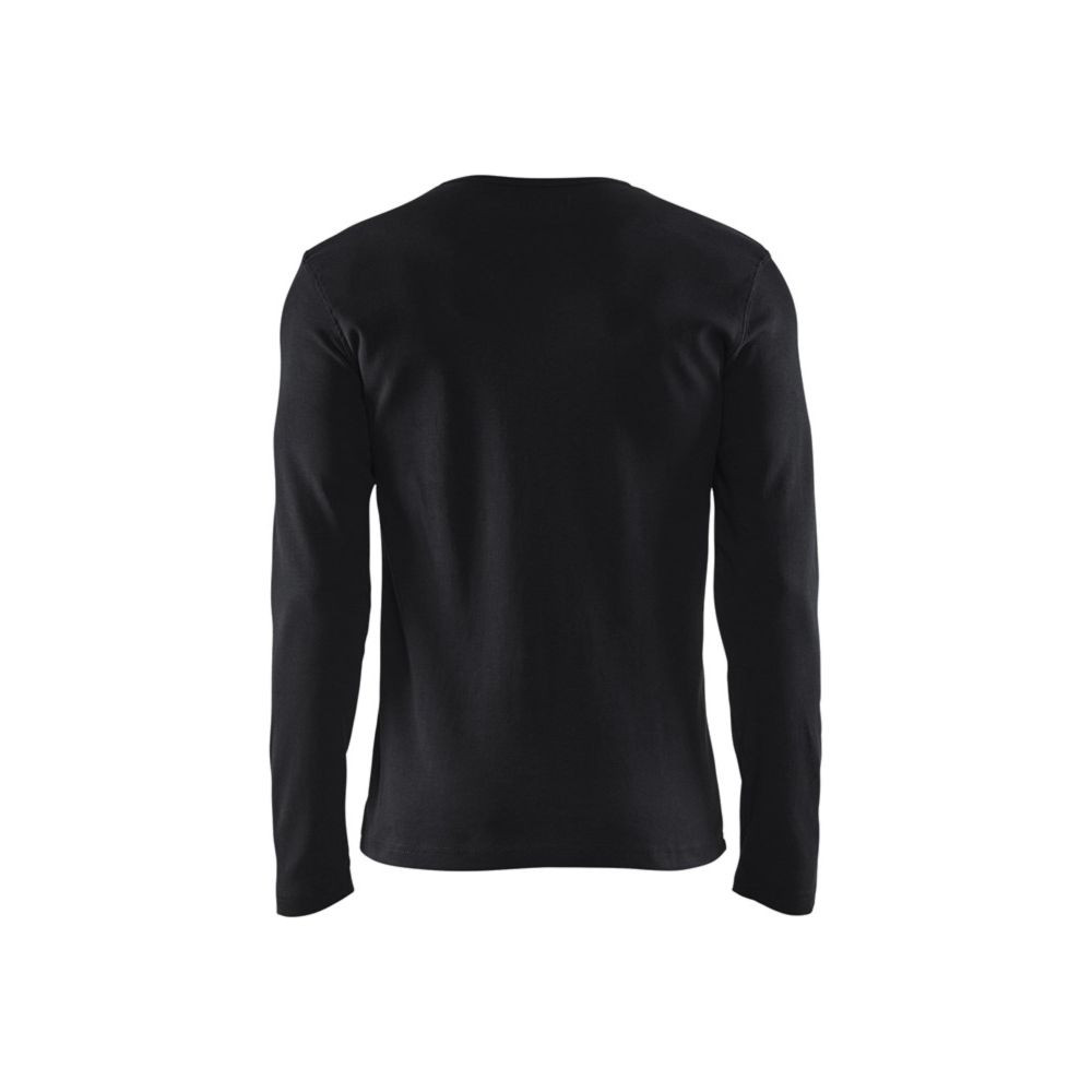 T-shirt manches longues Blaklader col rond 100% coton Noir Dos