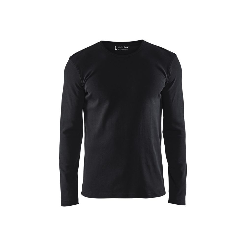 T-shirt manches longues Blaklader col rond 100% coton - Noir