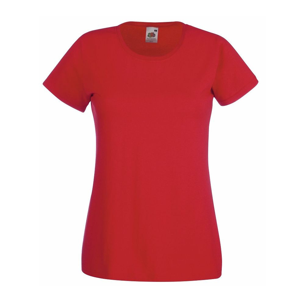 Tee-shirt femme Fruit of the Loom Lady-Fit Valueweight rouge
